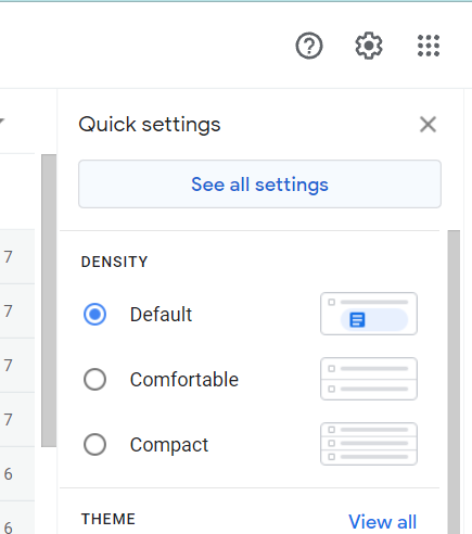 "see all settings"" option"