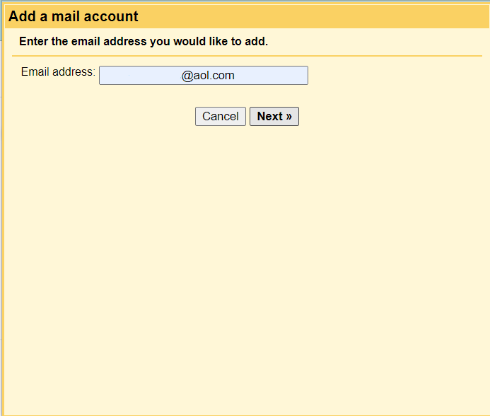 >enter your AOL mail email id