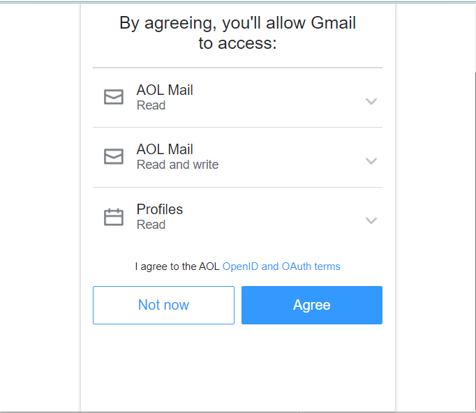 >Gmail will access your mail