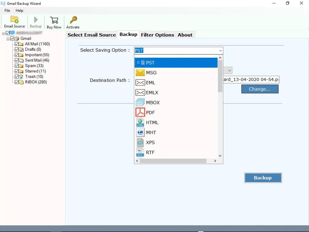 SysKare Gmail Email Backup