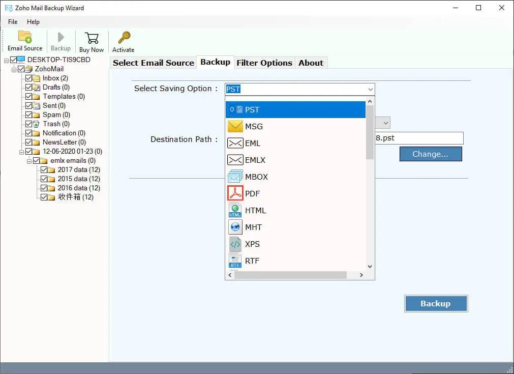 SysKare Zoho Email Backup